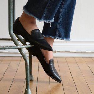 Frye Kenzie Venetian Point Toe Leather Flats 6.5